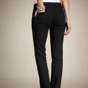 Chicos Platinum Bootcut Black Jeans Tall